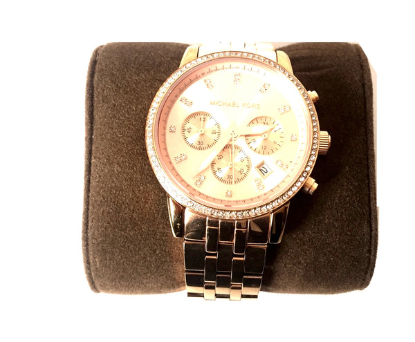 Michael Kors Rose Gold MK 6343 Watch | Gently Used |