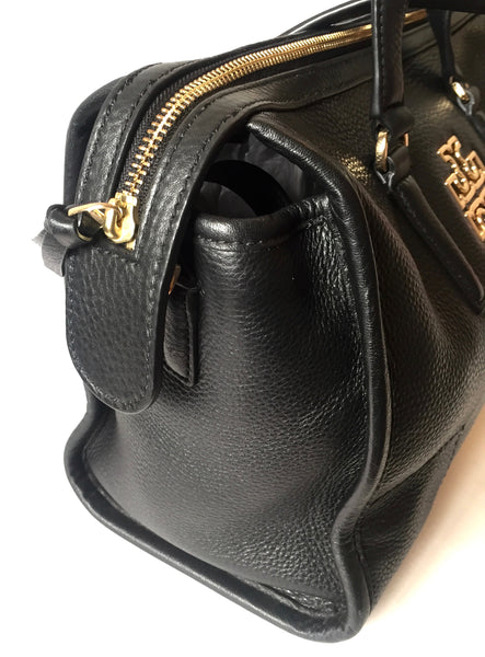 Tory Burch Black Pebbled Leather Tote Bag | Gently Used |