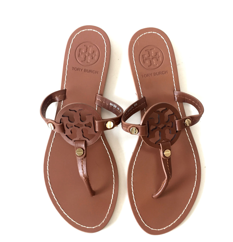 Tory Burch Brown 'Miller' Leather Sandals | Gently Used | - Secret Stash