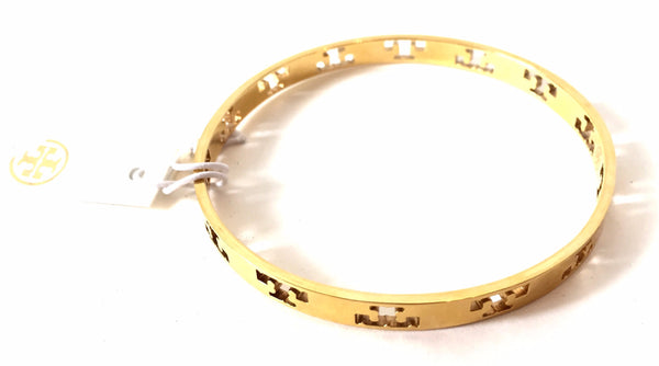 Tory Burch 'Pierced T' Gold Bangle | Brand New | - Secret Stash