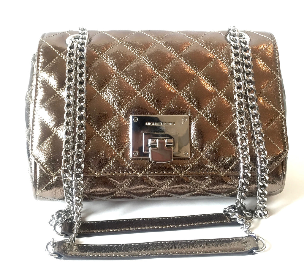 Michael Kors Viviane Metallic Quilted Bag | Gently Used |