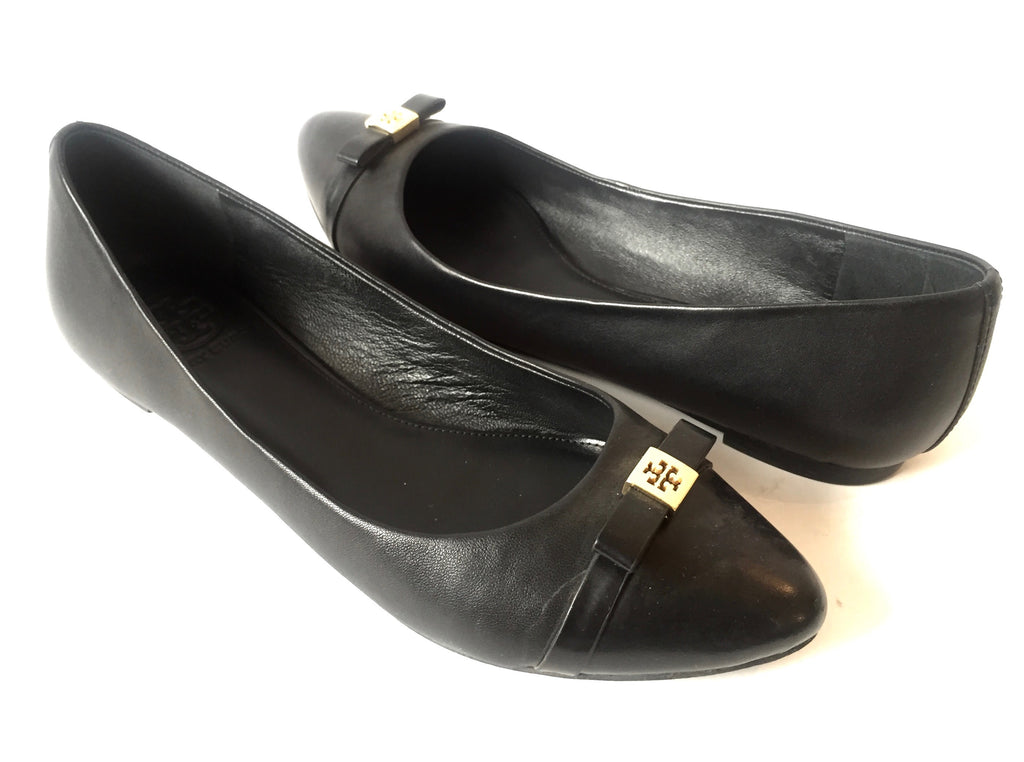 Tory Burch Black Pointed Ballet Flats | Pre Loved |