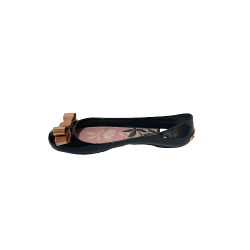 "Ted Baker 'DAHLIA"" Black Jelly Ballet Flats 