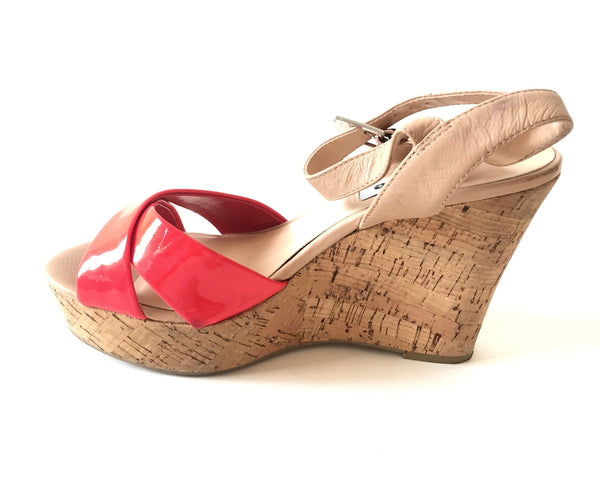 DUNE Criss Cross Platform Wedges | Gently Used | - Secret Stash