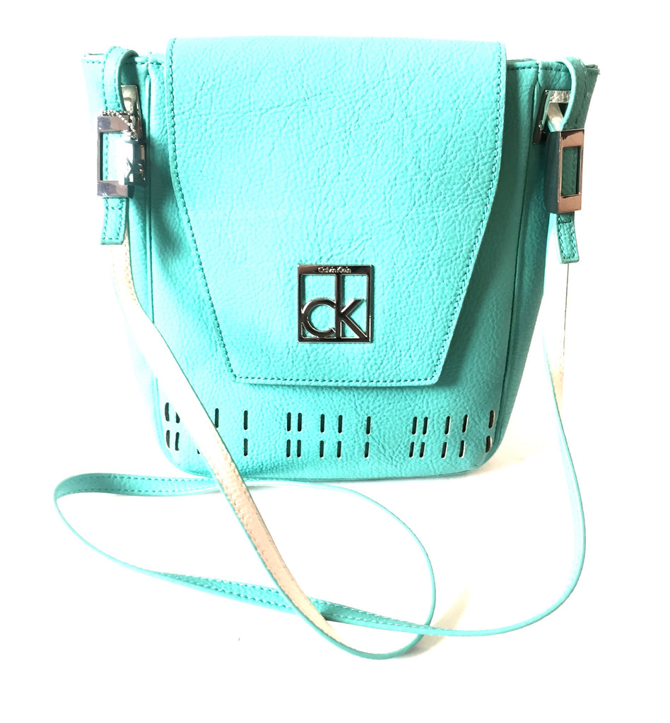 Calvin Klein Green Cross Body Leather Bag | Brand New | - Secret Stash