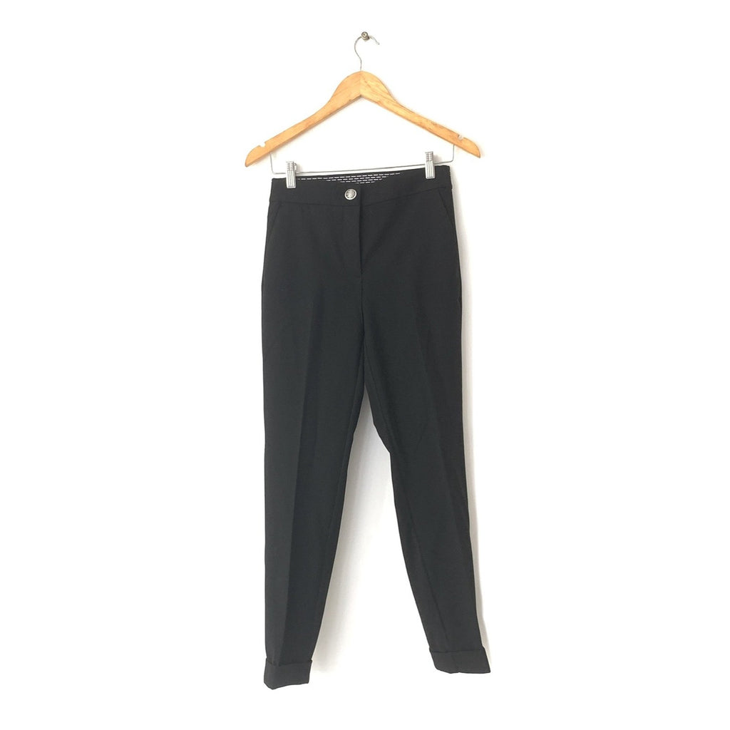 ZARA Black Cuffed Pants | Brand New |