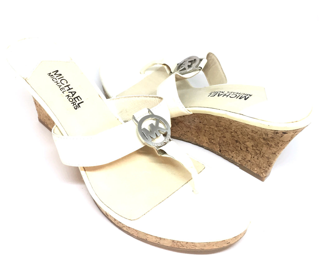Michael Kors Cream Wedge Sandals | Gently Used |
