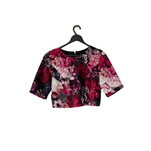Bardot Cropped Floral Top