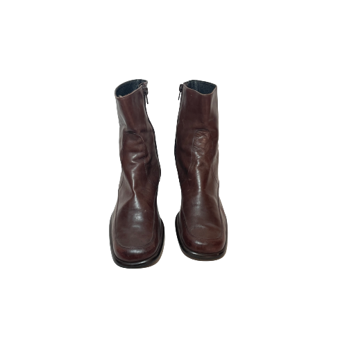 Florence Dark Brown Heeled Boots