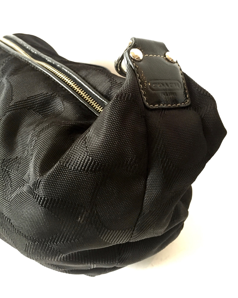 Coach Black Canvas with Leather Trim Shoulder Bag | Gently Used | - Secret Stash