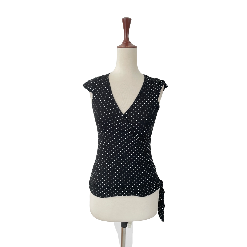 VERO MODA Black Polka Dot Top | Gently Used |