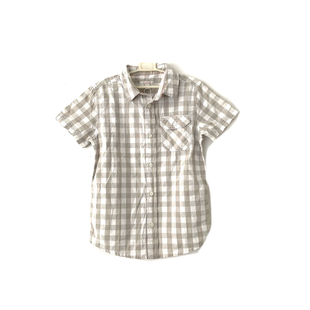 Esprit Grey & White Checked Shirt | Brand New |