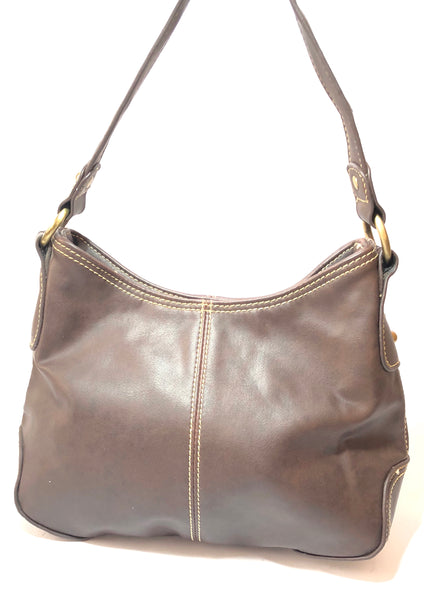 Tommy Hilfiger Small Brown Leather Shoulder Bag | Pre Loved |