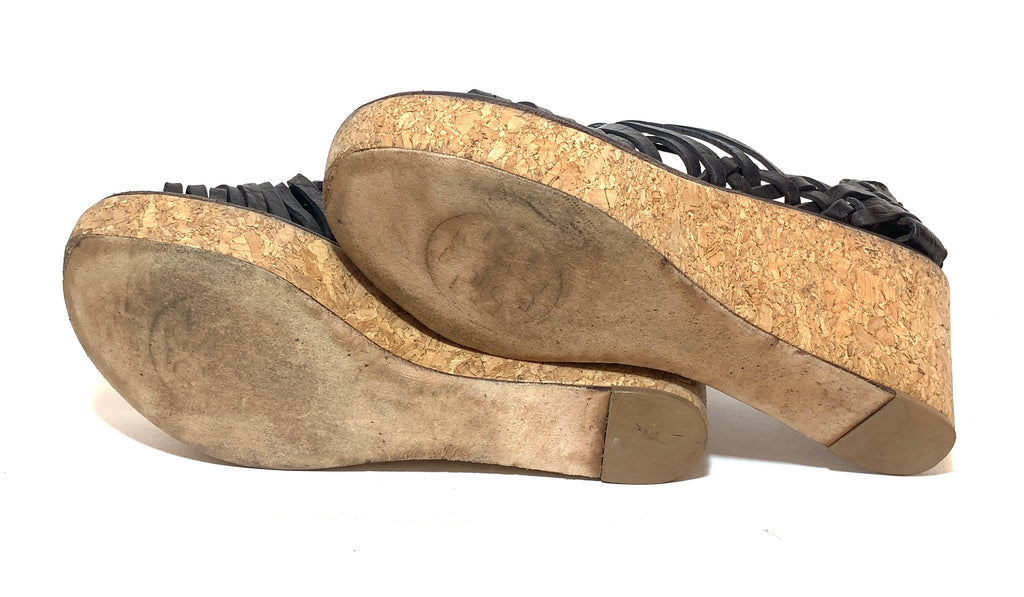 Tory Burch Leather & Cork Wedges | Pre Loved |