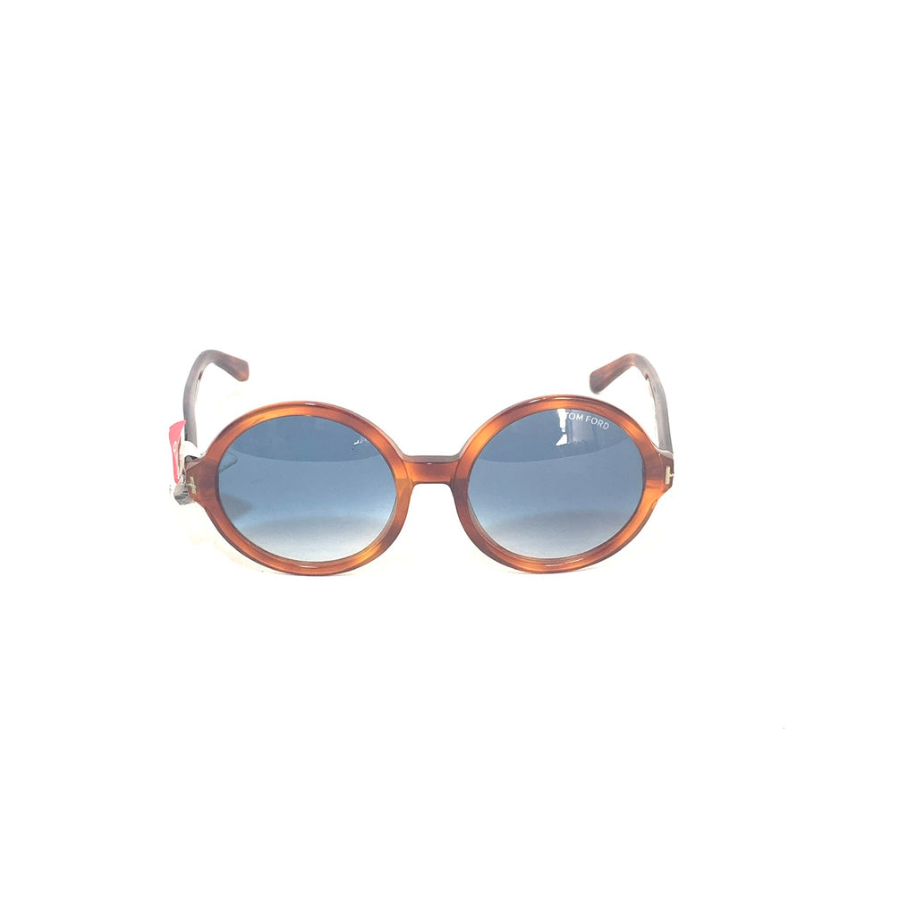 Tom Ford Juliet TF369 Brown & Blue Round Sunglasses | Brand New |