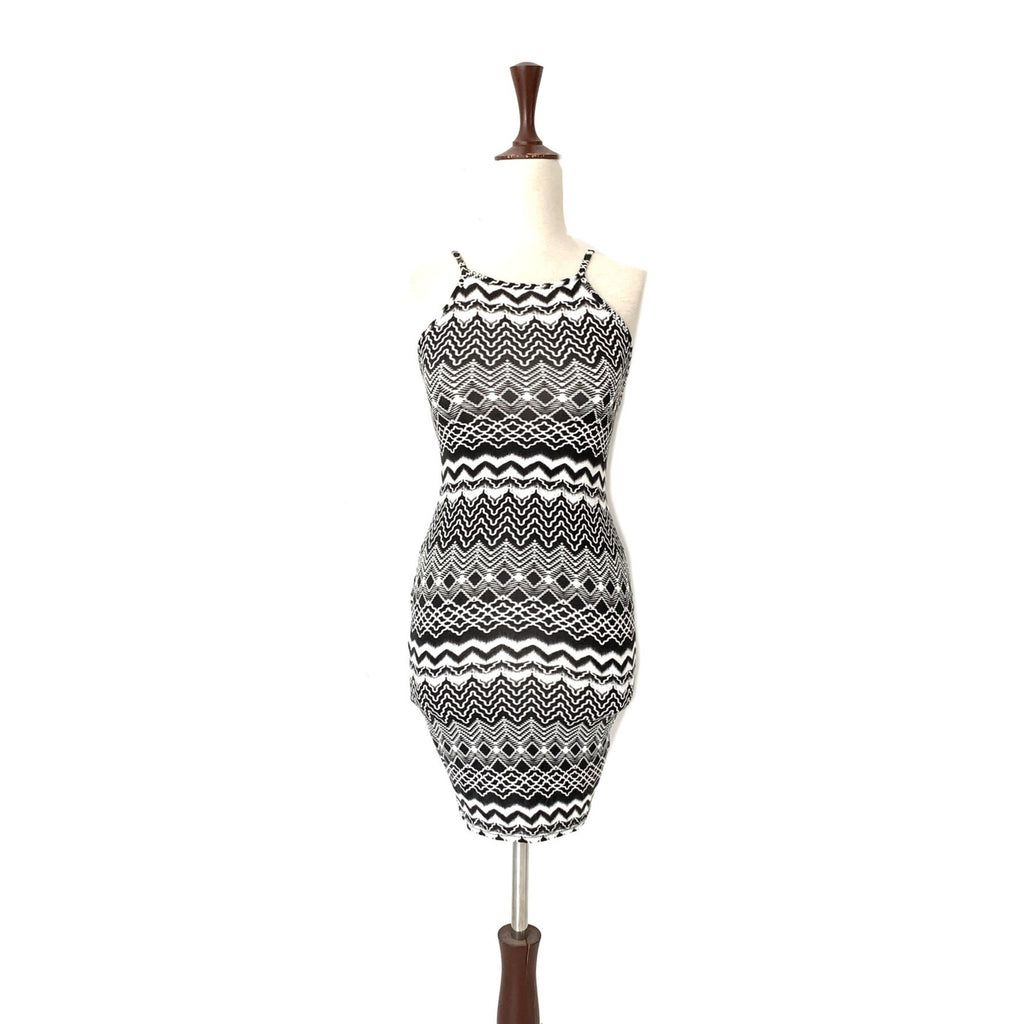 Miss Selfridge Black & White Printed Sleeveless Dress | Gently Used |