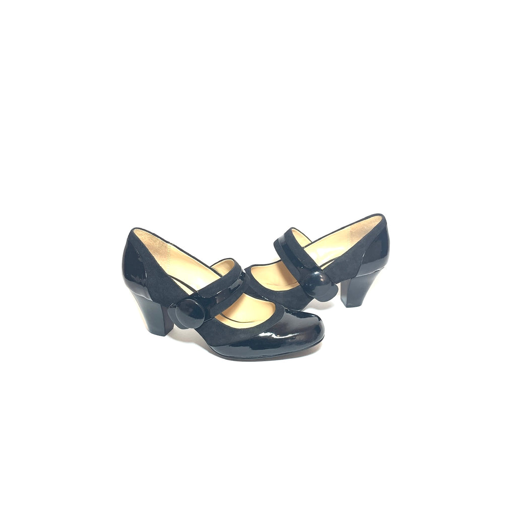 Clark's Black Patent Leather Mary Jane Pumps | Gently Used |