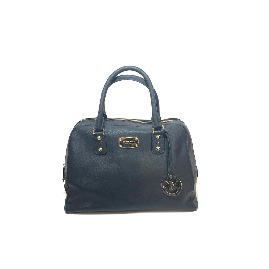 Michael Kors Black Leather Satchel | Pre Loved |
