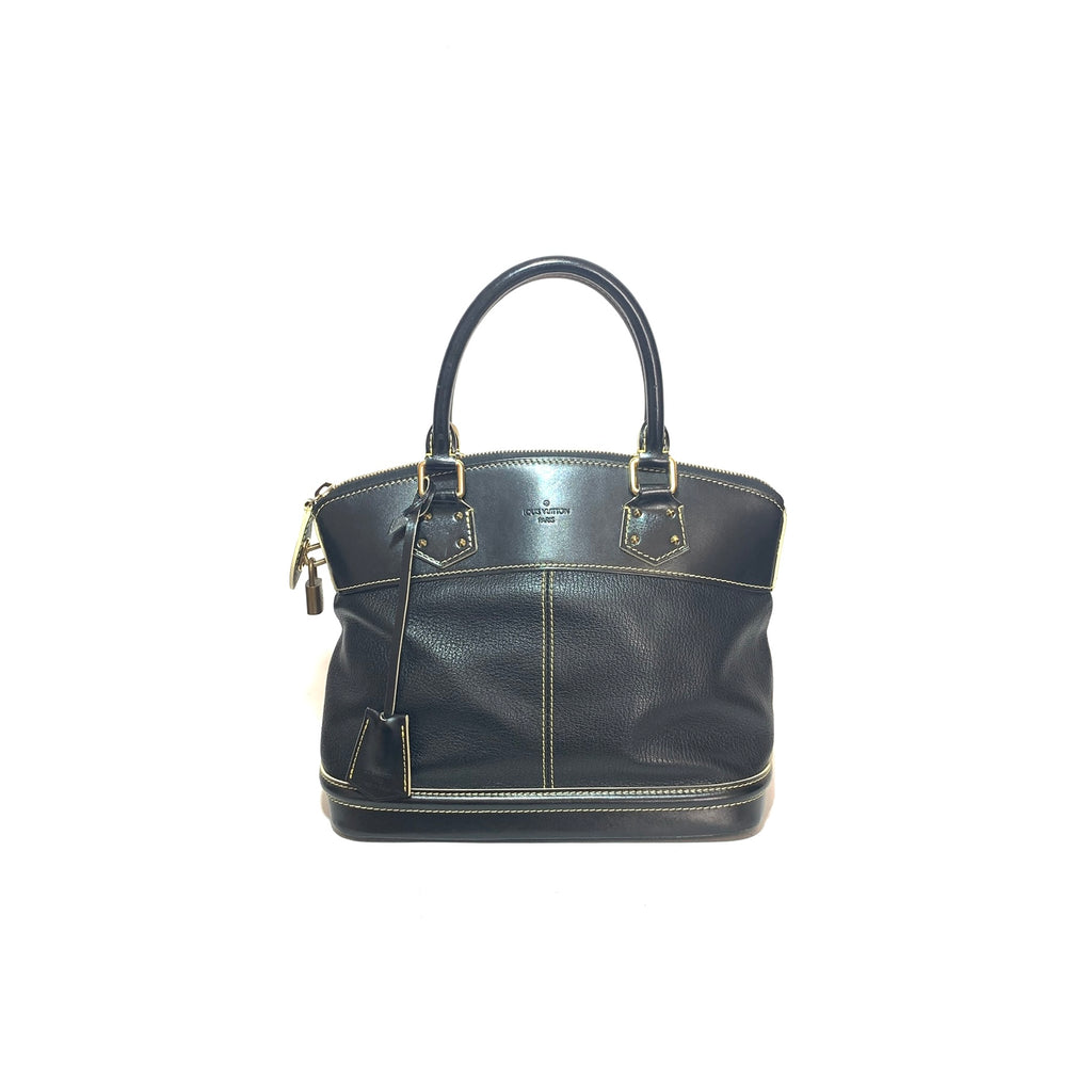 Louis Vuitton Black 'Suhali' Leather Lock It MM Bag | Gently Used |