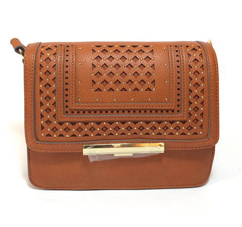 ALDO Brown Laser Cut Cross Body Bag | Brand New |