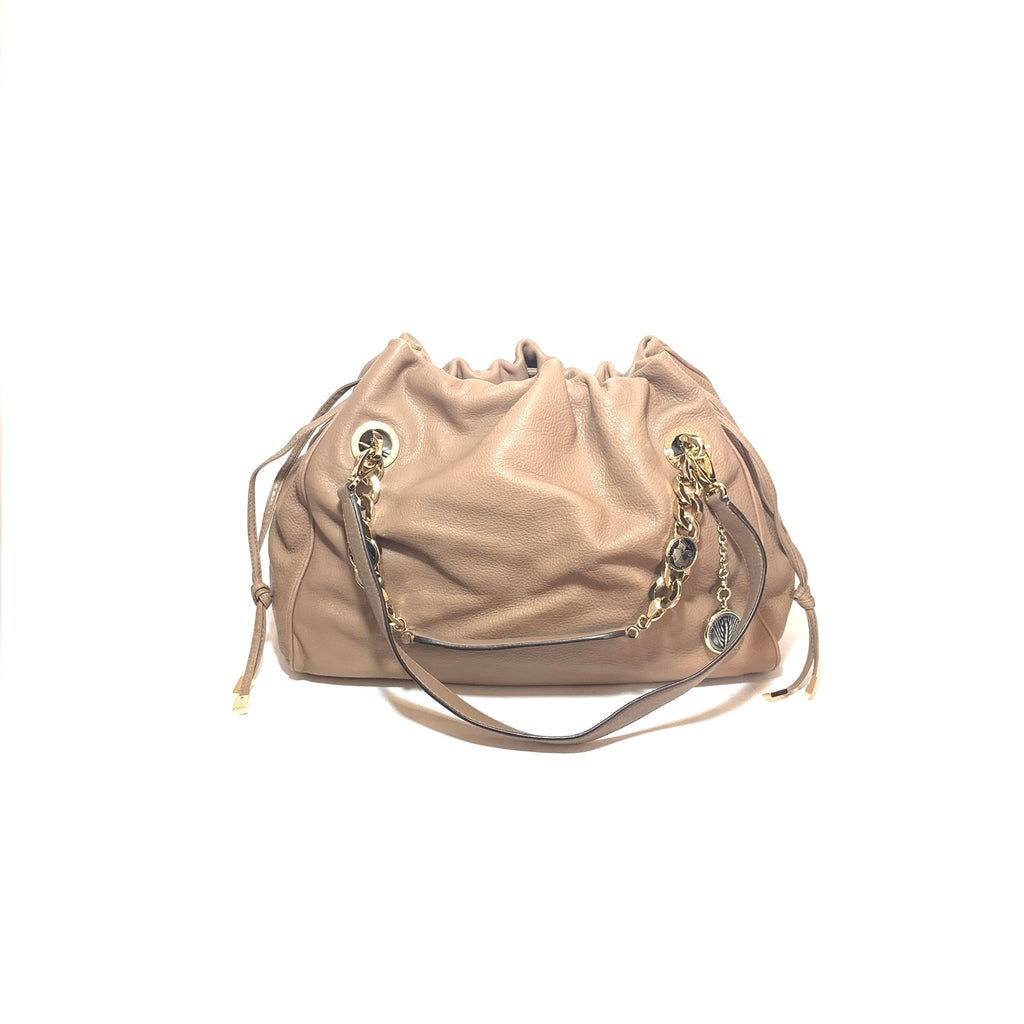Bvlgari Taupe Leather Shoulder Bag | Like New |
