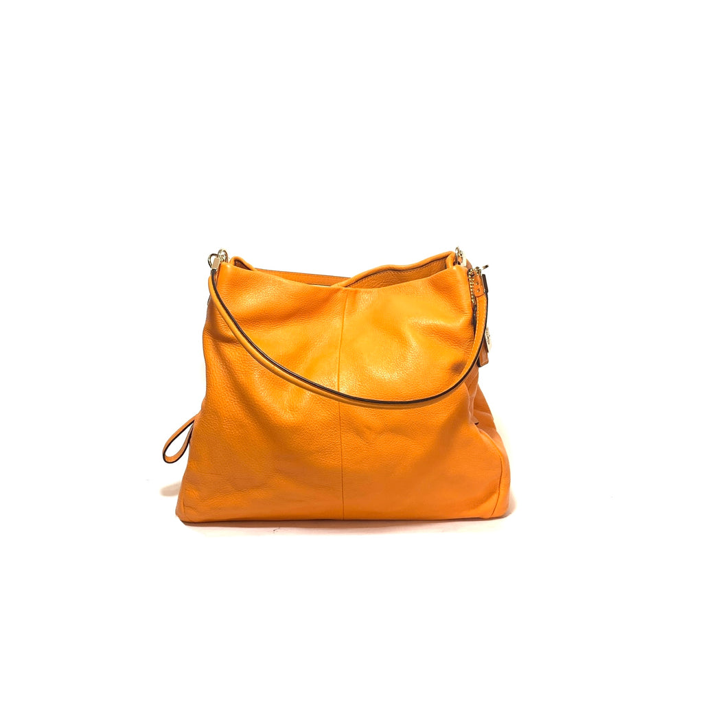 Coach Tangerine Leather Shoulder Bag | Like New |