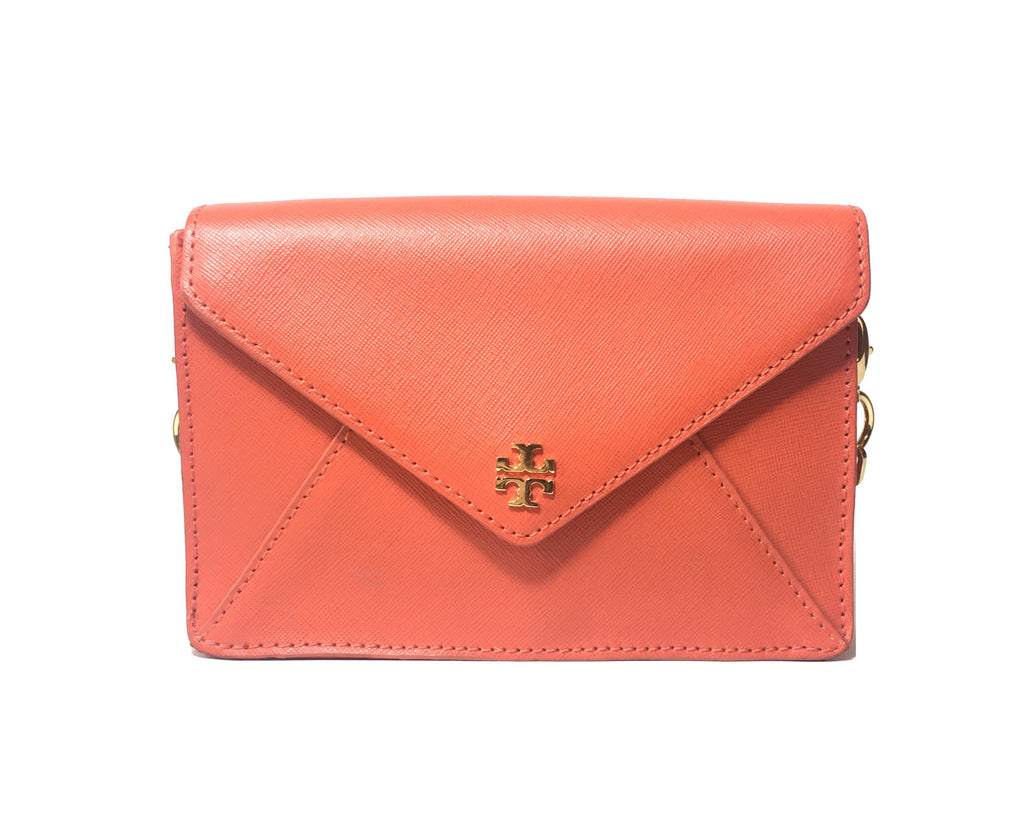 Tory Burch 'Robinson' Orange Envelope Clutch Bag | Gently Used |