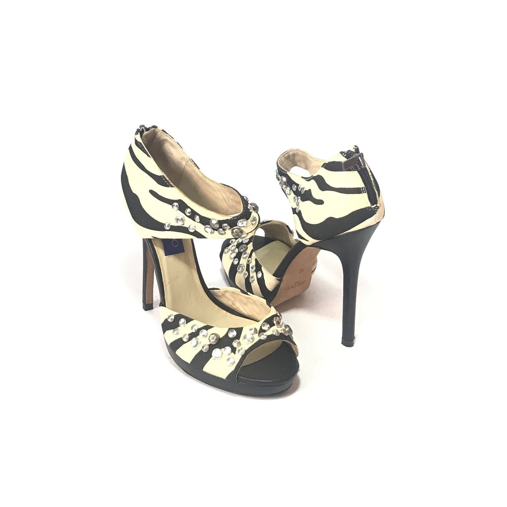 Jimmy Choo for H&M Rhinestone Leather Heels | Gently Used |