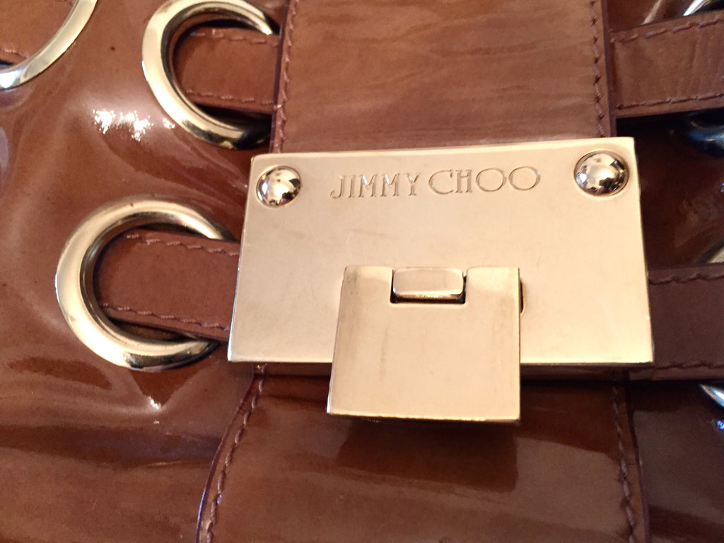Jimmy Choo 'Ramona' Patent Leather Handbag | Gently Used | - Secret Stash