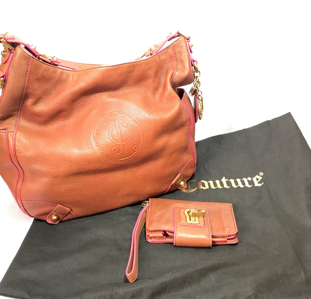 Juicy Couture Tan Leather Shoulder Bag & Wallet | Pre Loved |