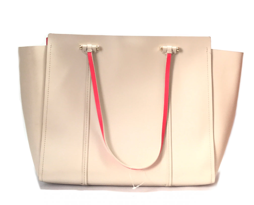Kate Spade Beige Large Leather Tote | Like New |