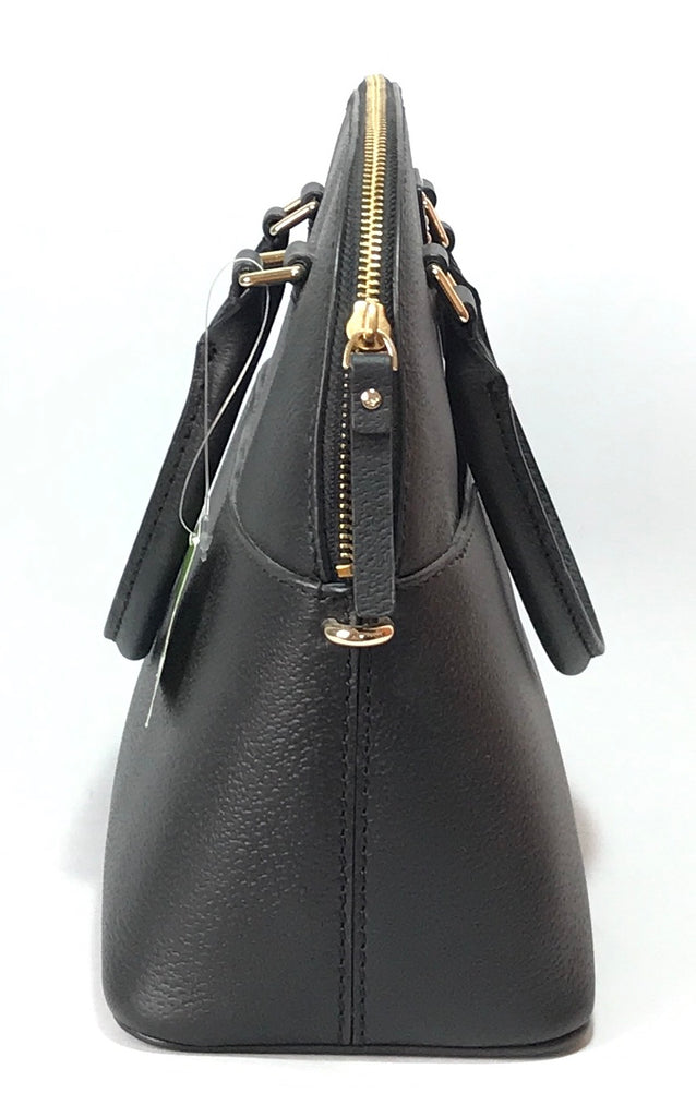 Kate Spade Black Leather 'Grove Street' Satchel | Brand New |