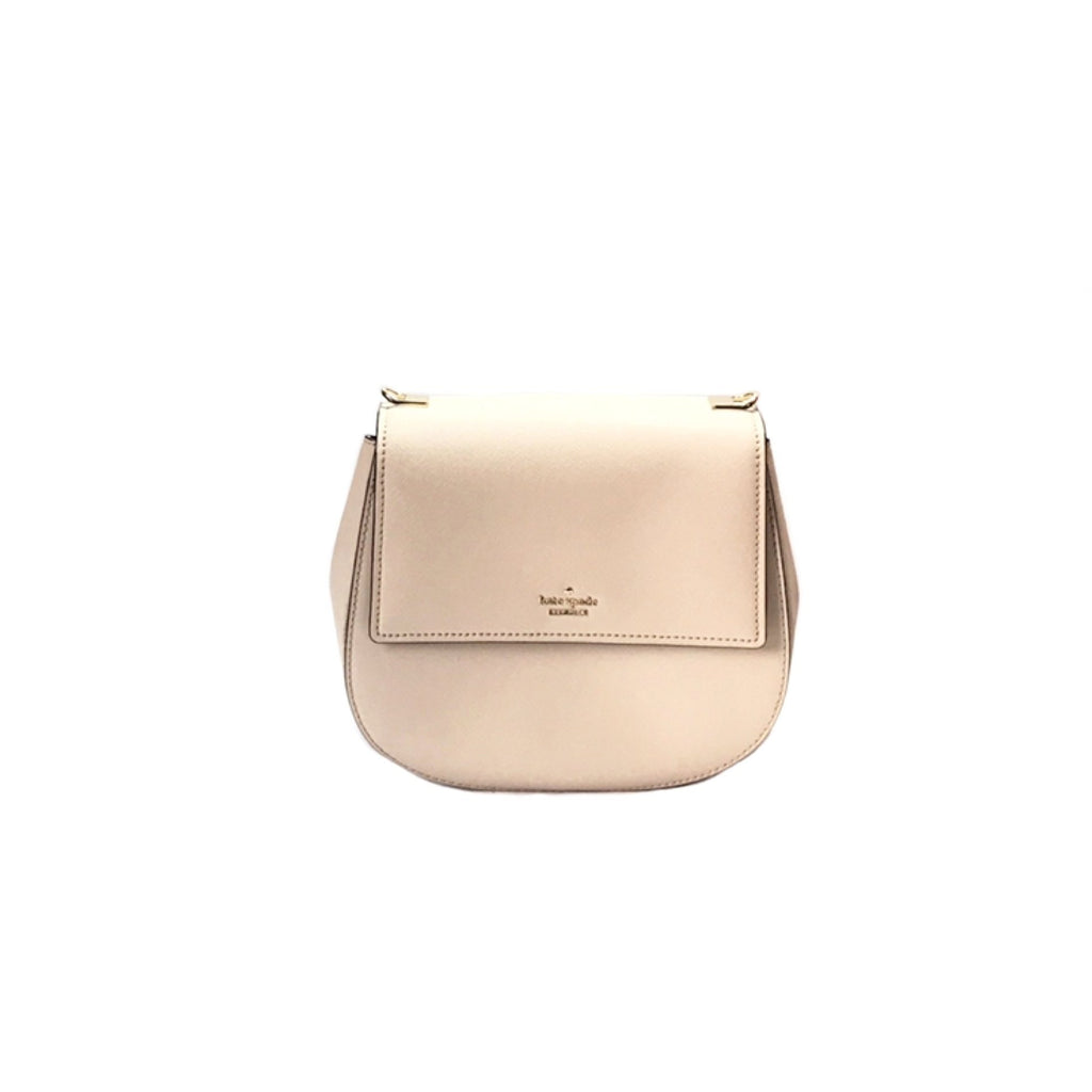 Kate Spade 'Byrdie' Beige Saddle Bag | Like New |