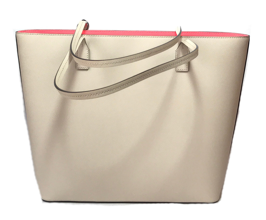 Kate Spade Cream Large Leather Tote | Like New |