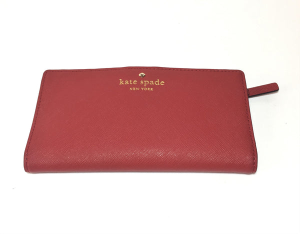 Kate Spade 'Cameron Street Stacy' Red Leather Wallet | Pre Loved |