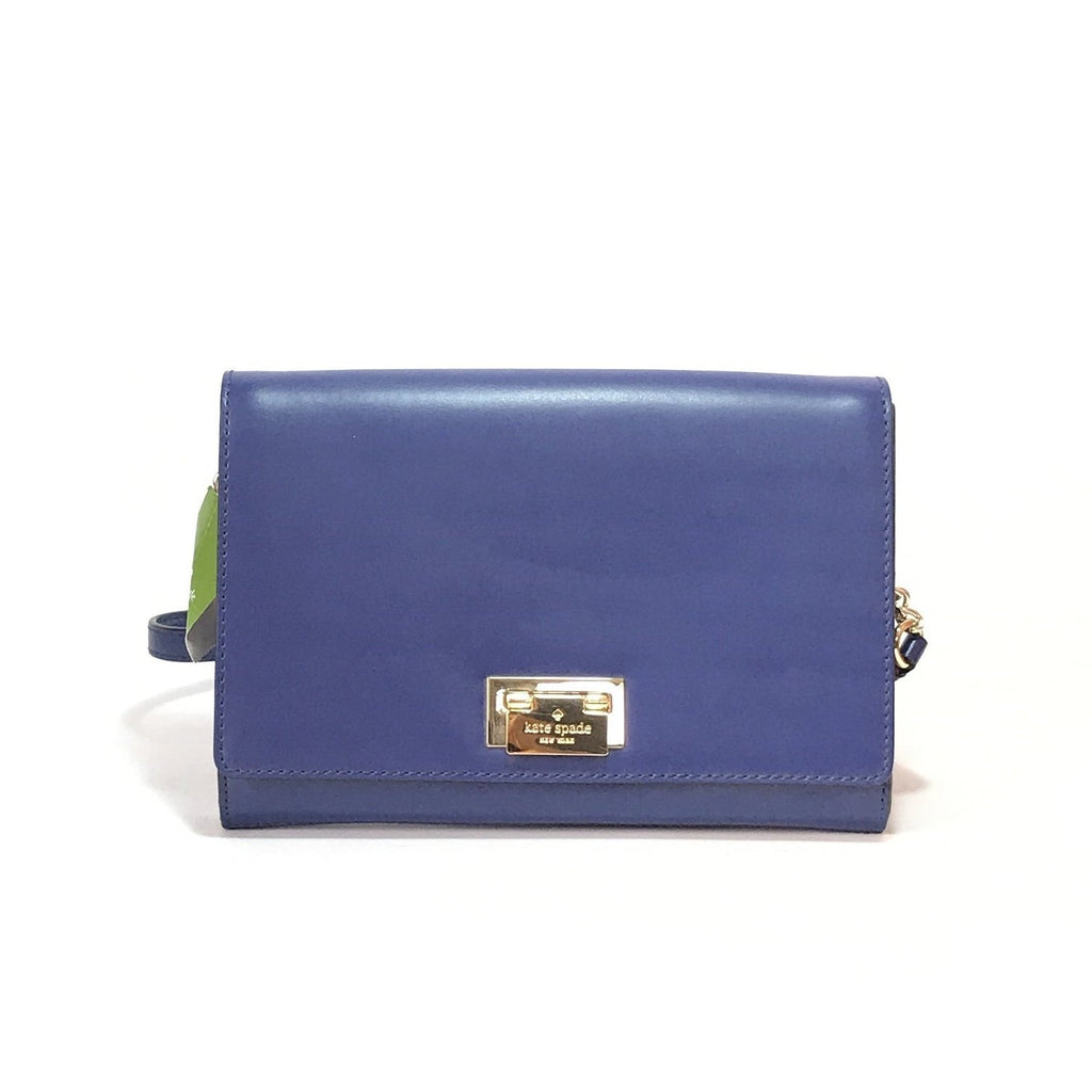 Kate Spade 'Harwood Place' Blue Leather Shoulder Bag | Brand New |