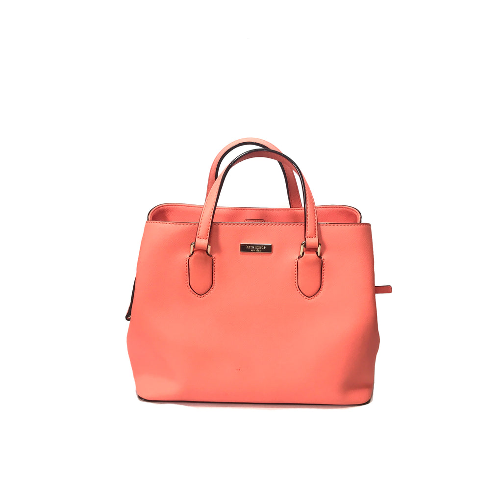 Kate Spade Coral Leather Satchel Tote | Pre Loved |