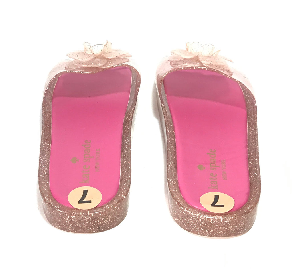 Kate Spade Pink Floral Jelly Slides | Like New |