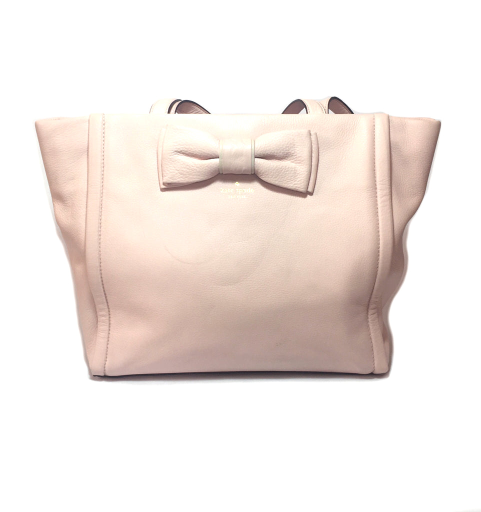 Kate Spade Powder Pink Bow Tote Bag | Gently Used |