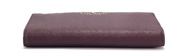 Kate Spade 'Cameron Street Stacy' Deep Plum Leather Wallet | Brand New |