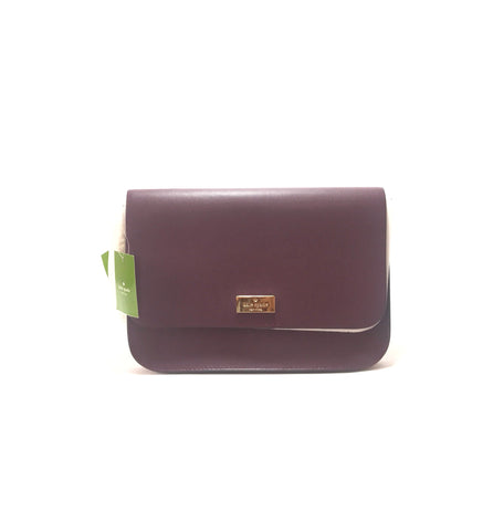 Kate Spade 'Putnam Drive' Deep Plum Shoulder Bag | Brand New |