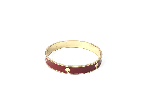 Kate Spade Red & Gold Ceramic Bangle | Gently Used |