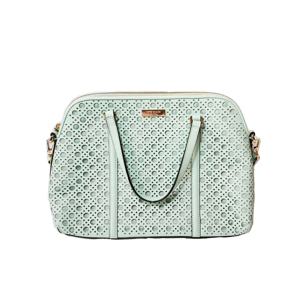 Kate Spade Mint Green Laser Cut Leather Bag | Gently Used |