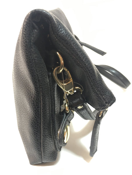 Kenneth Cole Reaction Black Leather Crossbody Bag | Gently Used |