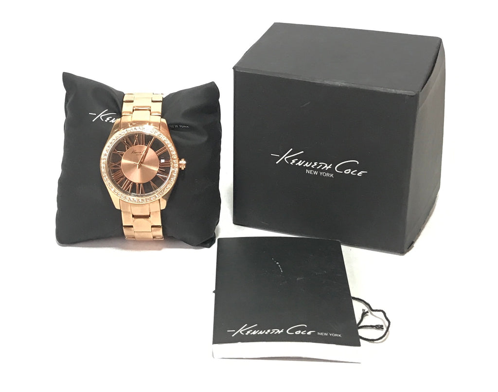 Kenneth Cole Rose Gold Rhinestone Watch | Like New |