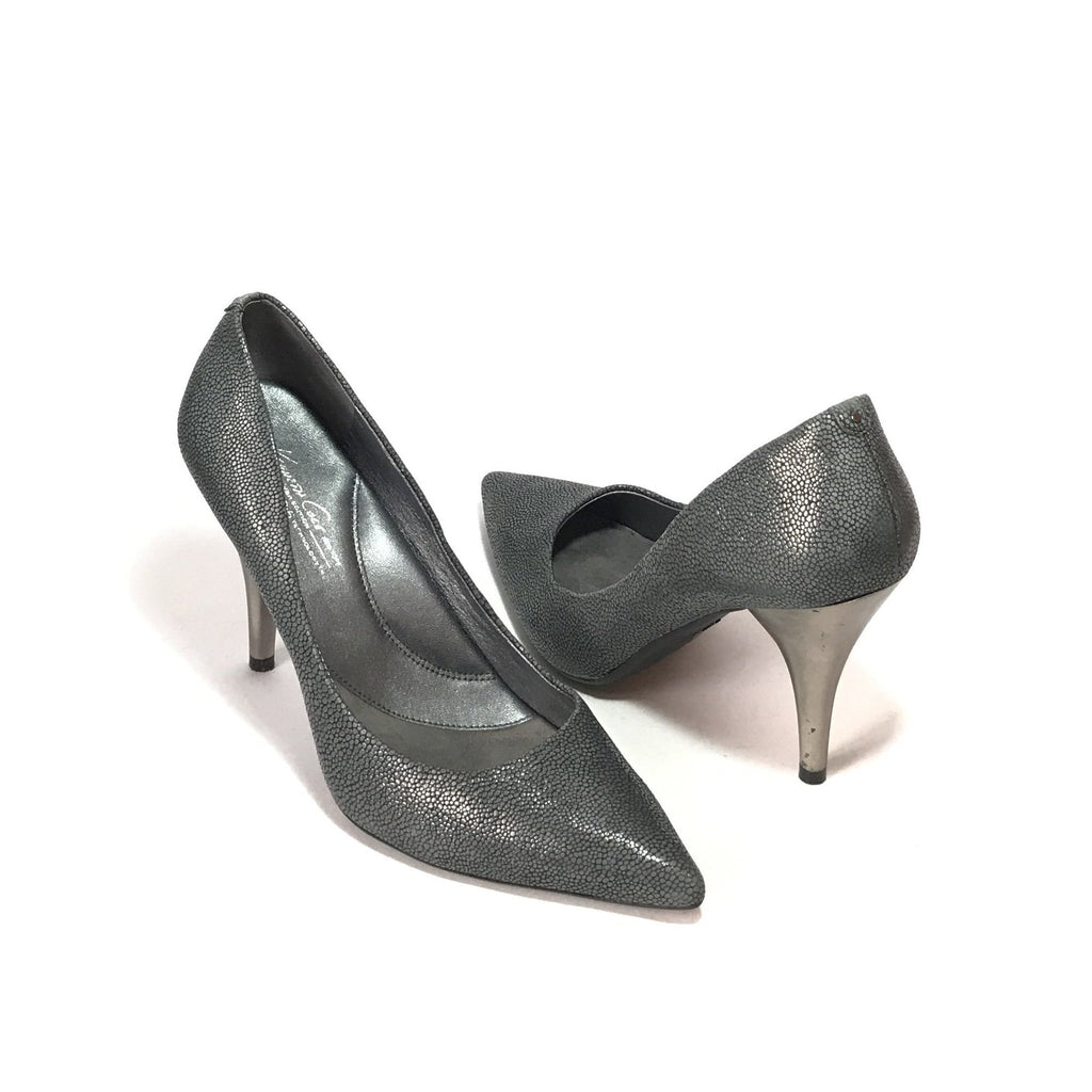 Kenneth Cole Grey Printed Leather Pumps | Gently Used |