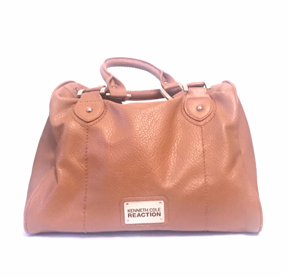 Kenneth Cole Reaction Brown Leather Tote | Gently Used | - Secret Stash