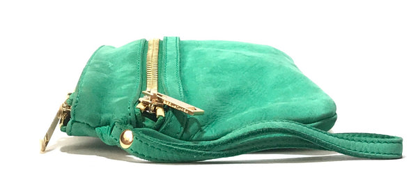 Kurt Geiger Green Suede Wristlet | Gently Used |