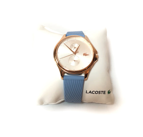 Lacoste KEA Gold Dial with Blue Silicone Strap Watch | Brand New |