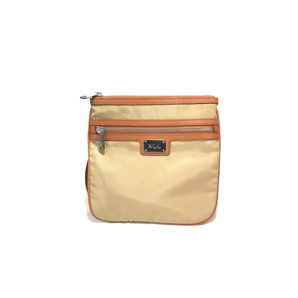 Lauren Ralph Lauren Beige & Tan Cross Body Bag | Gently Used |